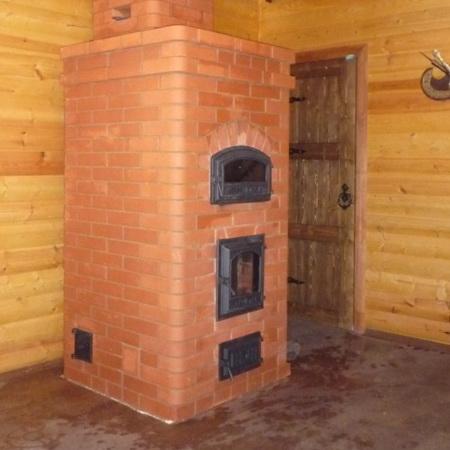Маленькая печь для дачи из кирпича фото